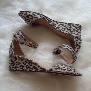 J. Crew Snow Leopard Sandals